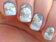rain dance nails from r/redditlaqueristas u/nails8485