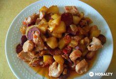 Bogdányi aprópecsenye   NOSALTY Beef Recipes, Dog Food Recipes, Hungarian Recipes, Kung Pao Chicken, Fruit Salad, Sausage, Oatmeal, Paleo, Pork