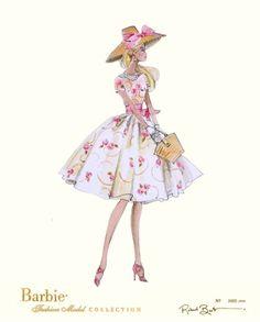 (¯`'•.ೋ…          Robert Best- Fashion Designer for Barbie Garden Party - Robert Best Barbie Print