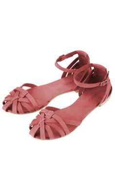HAPPY Closed Strippy Sandals (coral)