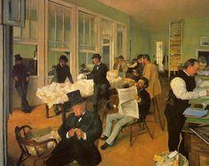 Mercado de algodón-Edgar Degas. 1873. Pau