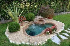 11 Εντυπωσιακά συντριβάνια για τον κήπο σου! | exypnes-idees.gr Outdoor Ponds, Ponds Backyard, Outdoor Fountains, Water Fountains, Backyard Waterfalls, Garden Ponds, Fish Ponds, Garden Fountains, Backyard Ideas