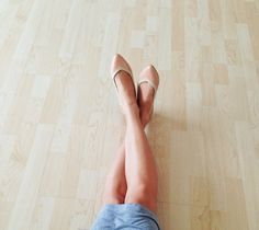 Balerinas color mamey con ribete beige // material por MinaShoes