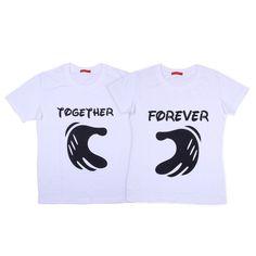 Vivid Bharti Printed Couple T-Shirt - Set of 2- Men and Women