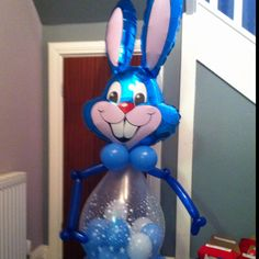The Easter bunny ! Balloons had chocolate eggs in them ! X