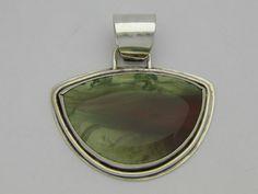 Imperial Jasper Pendant in Argentium Silver by TerriGarciaDesigns
