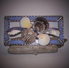 Stained Glass Panel seashell suncatcher by PineTreeGlassWorks, $45.00