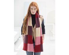 Loom Knit Colorblock Scarf