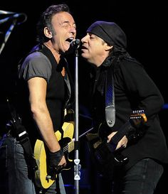 """Bruce Springsteen and Steven Van Zandt perform during the """"Working on a Dream"""" tour at Mellon Arena tonight."""