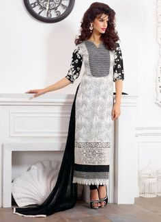 White & Black party wear wholesale salwar suits  Buy full catalog @ http://www.suratwholesaleshop.com/7778A-Winsome-Pure-Georgette-Straight-Long-Suit?view=catalog  #Wholesalesalwar #salwarsuits #shopping #UKsalwarkameez #salwarsuitsUSA #Cheapsalwarkameez #onlinesalwar #suratsuits #designersalwarsuits