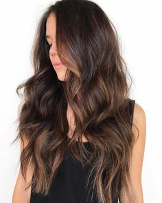 Long Wavy Ash-Brown Balayage - 20 Light Brown Hair Color Ideas for Your New Look - The Trending Hairstyle Brown Hair Cuts, Brown Hair Looks, Golden Brown Hair, Brown Hair Shades, Brown Ombre Hair, Brown Balayage, Brown Blonde Hair, Brown Hair With Highlights, Light Brown Hair