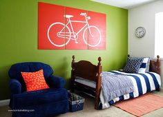 DIY Bike Art - A projector and a paint pen make this a cinch!