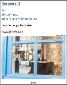 Restaurant Jef - 20 rue Haute - Bruxelles Pentagone