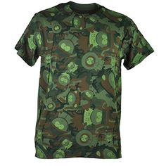 Comedy Central South Park Character Camouflage Green Camo Men Tshirt Tee 2XLarge @ niftywarehouse.com #NiftyWarehouse #SouthPark #ComedyCentral #TVShows #TV #Comedy