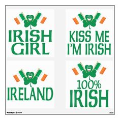 St. Patrick's Day Party Pack - Irish Flags Wall Stickers