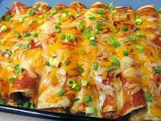 CREAM CHEESE CHICKEN ENCHILADAS ~ International Recipes - Foods and Drinks