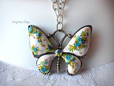 Jewelry on the neck.pendant chain of polymer от JewelryWithFlower