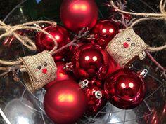 Burlap Reindeer ornament From gainingMOMentum