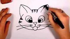 como dibujar un gato - YouTube