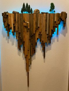 Wooden Wall Decor, Wooden Art, Wood Wall Art, Woodworking Projects Diy, Diy Wood Projects, Wood Crafts, Woodworking Plans, Woodworking Inspiration, Popular Woodworking