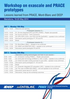 Workshop programa for Prace Days