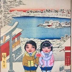 """Mei&Kenji step inside Hiroshige print for Step Inside, Xmas, Japan, Art Prints, Twitter, Design, Art Impressions, Weihnachten, Japanese Dishes"