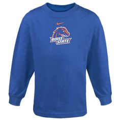 Nike Boise State Broncos Preschool Classic Logo Long Sleeve T-Shirt - Royal Blue - $17.99