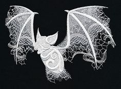 Ghost Baroque - Bat | Urban Threads: Unique and Awesome Embroidery Designs