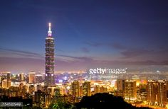 Skyline with Taipei 101 building (Photo by Tom Bonaventure) | #travel #photography #taipei #taiwan #skyline #Skyscraper