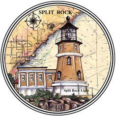 Split Rock #Lighthouse Print (Donna Elias) http://www.roanokemyhomesweethome.com                                                                                                                                                                                 More