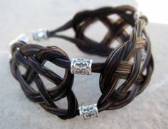 Bella bracelet, horse hair bracelet Celtic knot work, shown in sterling silver, $85.00 www.spirithorsedesigns.com