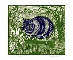Image result for linocut cats