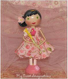 So pretty! Clothespin doll