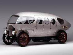 Alfa's Prototype Steampunk Racecar, The Aerodinamica: Perhaps inspired by the look of the passenger cabin of your standard turn of the century dirigible, this model was produced between the years 1913 and 1922 purely for racing (it could reach a zippy 86 MPH), and drives straight off the pages of Thomas Pynchon's novel Against the Day. It is flawless design beauty, perhaps even inspiring R. Buckminster Fuller to design what would become his Dymaxion Car.