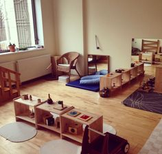 Montessori School of Russia, Montessori Toddler classroom, Practical Life area.