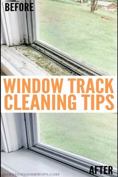 Windows Discover How to Clean Dirty Window Tracks Frustrated with dirty window tracks? Here are the best ways to clean window tracks with common household ingredients you already have on hand. Deep Cleaning Tips, Household Cleaning Tips, Cleaning Day, Cleaning Walls, Cleaning Checklist, Bathroom Cleaning, House Cleaning Tips, Diy Cleaning Products, Cleaning Lists