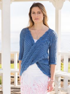 ANNIE'S SIGNATURE DESIGN: La Cruz Top Knit Pattern. Order here: https://www.anniescatalog.com/detail.html?prod_id=135602&cat_id=1021