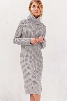 30 Sweaterdresses To Beat The Winter Blues #refinery29  http://www.refinery29.com/sweater-dress#slide16  A knee-length, textured knit for work and play.