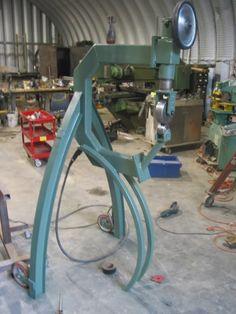Tech Month~~Home made metal shaping tools Homemade Tools, Diy Tools, Metal Work Bench, Sheet Metal Tools, English Wheel, Metal Shaping, Metal Workshop, Auto Body Repair, Metal Working