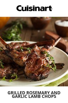 Grilled Rosemary and Garlic Lamb Chops on Cuisinart Lamb Chops Marinade, Grilled Lamb Chops, Griddle Recipes, Air Fryer Recipes, Lamb Chop Recipes, Meat Recipes, Rosemary Lamb Chops, Swing Table, Grill Plate