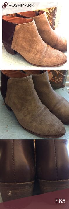 """Madewell Charley Boots Madewell Charley Boots in Brown in size 9.5.  These show some wear but have lots of life left.  Some scratches on the heels shown in picks as well as some wear to the leather and suede.  Heel height is 1.75"""".. so walkable! Madewell Shoes Ankle Boots & Booties"""