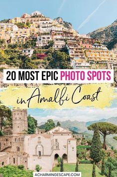 20 Most Epic Photo Spots in Amalfi Coast. Featuring info on the most gorgeous places in Positano, Sorrento, Capri, Amalfi and more hidden gems spots you won't find in a guide book.Coastal hill towns, colorful fishing villages, and lemon groves entice you at every corner of the coast. Where to take beautiful photos on the Amalfi Coast| Beautiful places Amalfi Coast | Where to take photos on the Amalfi Coast| Amalfi Coast Travel Guide | What to do on the Amalfi Coast| Amalfi Coast Instagram |