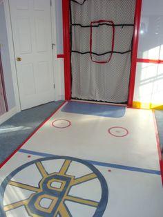 boys bedroom ideas hockey I like the rug...great for knee hockey!