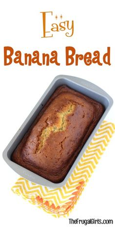Banana Bread Recipe from TheFrugalGirls.com