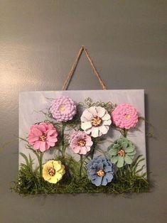 Pine Cone Flower Art