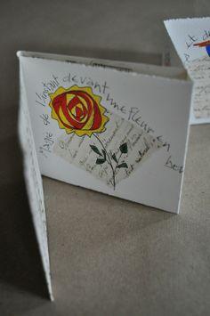 carte pliée, collée, dessinée ... chez coeur cannelle