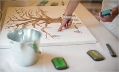 thumbprint guest book idea