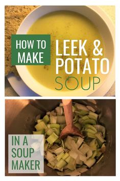 Leek and Potato Soup is one of the most searched for recipes. Did you know you can easily make it in your soup maker? It tastes fantastic :) Soup Appetizers Soup Appetizers dinners carb Soup Appetizers Appetizers with french onion Leek And Potato Recipes, Creamy Potato Soup, Potato Leek Soup, Slimming World Soup Recipes, World Recipes, Cuisinart Soup Maker, Morphy Richards Soup Maker, How To Cook Leeks, Cooking Recipes