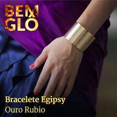 Bracelete banhado a ouro lindo e cheio de estilo *.* #bemglo #semijoias #bracelete