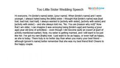 Maid of Honor Speeches for Sisters | Pinterest | Bridesmaid poems ...